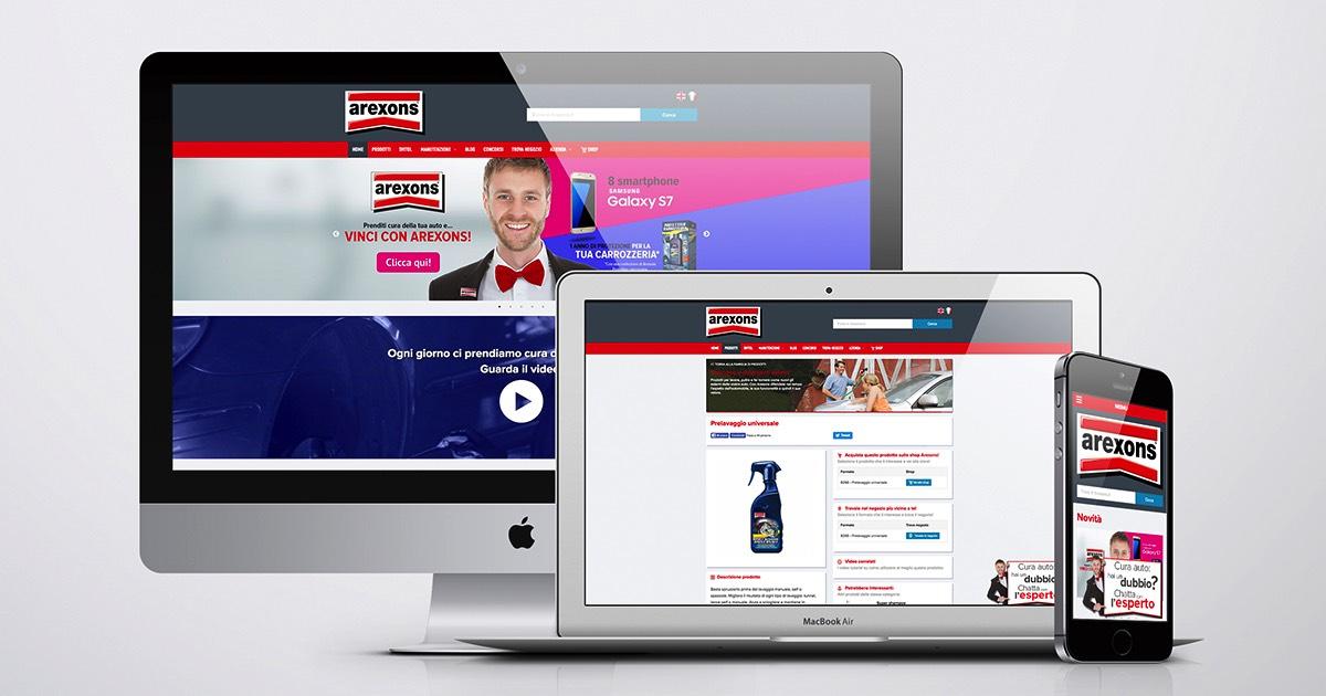Creazione e gestione del sito responsive arexons.it