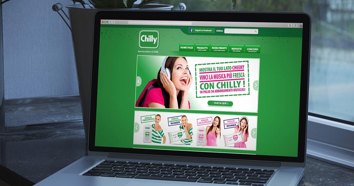 Caratteristiche del sito chilly.it 2013 realizzato dall'agenzia OltreMedia
