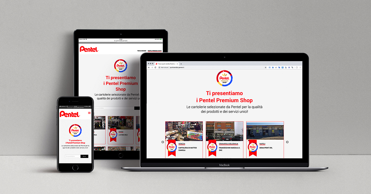 Pentel Premium SHOP: digital marketing b2b per il canale cartolerie!