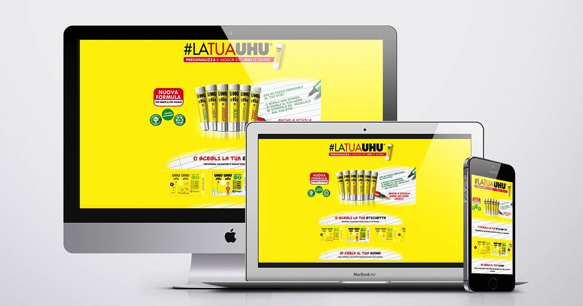 Applicazione per la realizzazione di etichette e grafiche personalizzate realizzata dall'agenzia OltreMedia