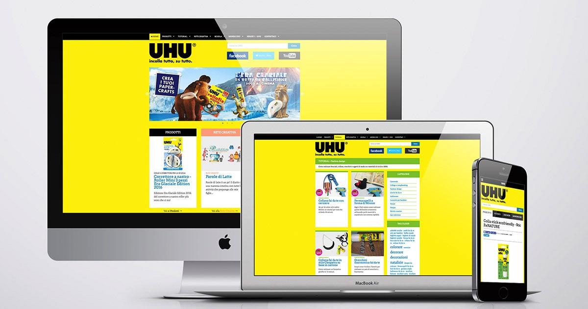 Sito web realizzato e gestito dall'agenzia OltreMedia per il brand UHU